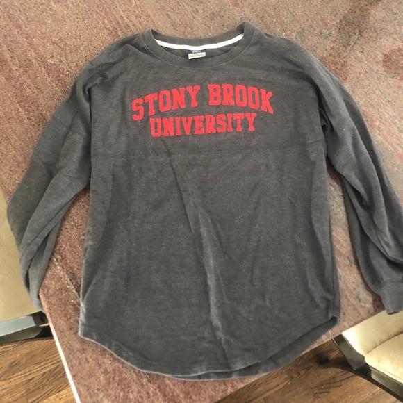 School Spirit Sweatshirt Deco Stony Brook University Girls Pullover Hoodie  Active Sweatshirts
